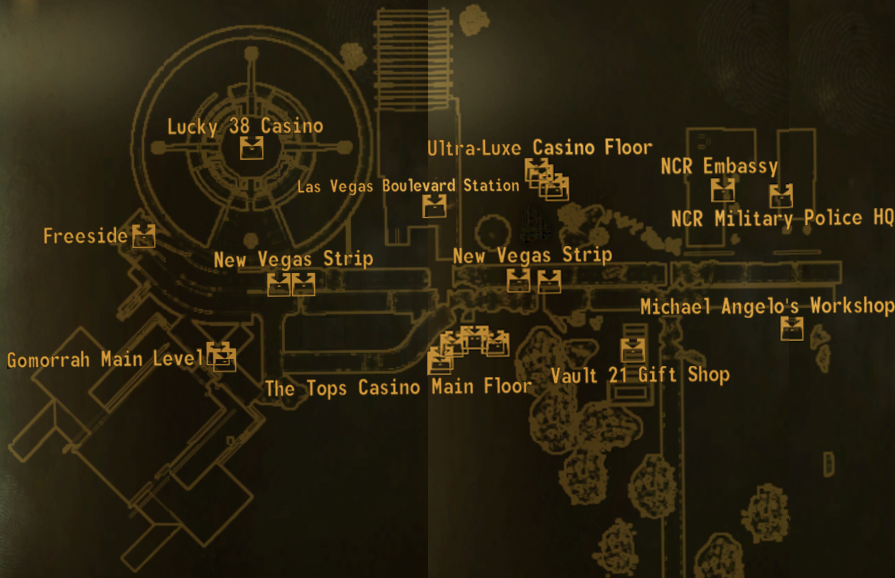 Image - New Vegas Strip map.png | Fallout Wiki | FANDOM powered by Wikia