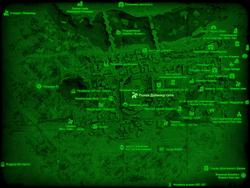 FO4 Рынок Даймонд-сити (карта мира)