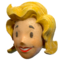 FO76 Vault Girl mascot head