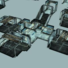 The beta version of Living quarters' dorms (not seen during normal gameplay)