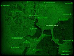 FO4 Парковка в Линн-Пир (карта мира)