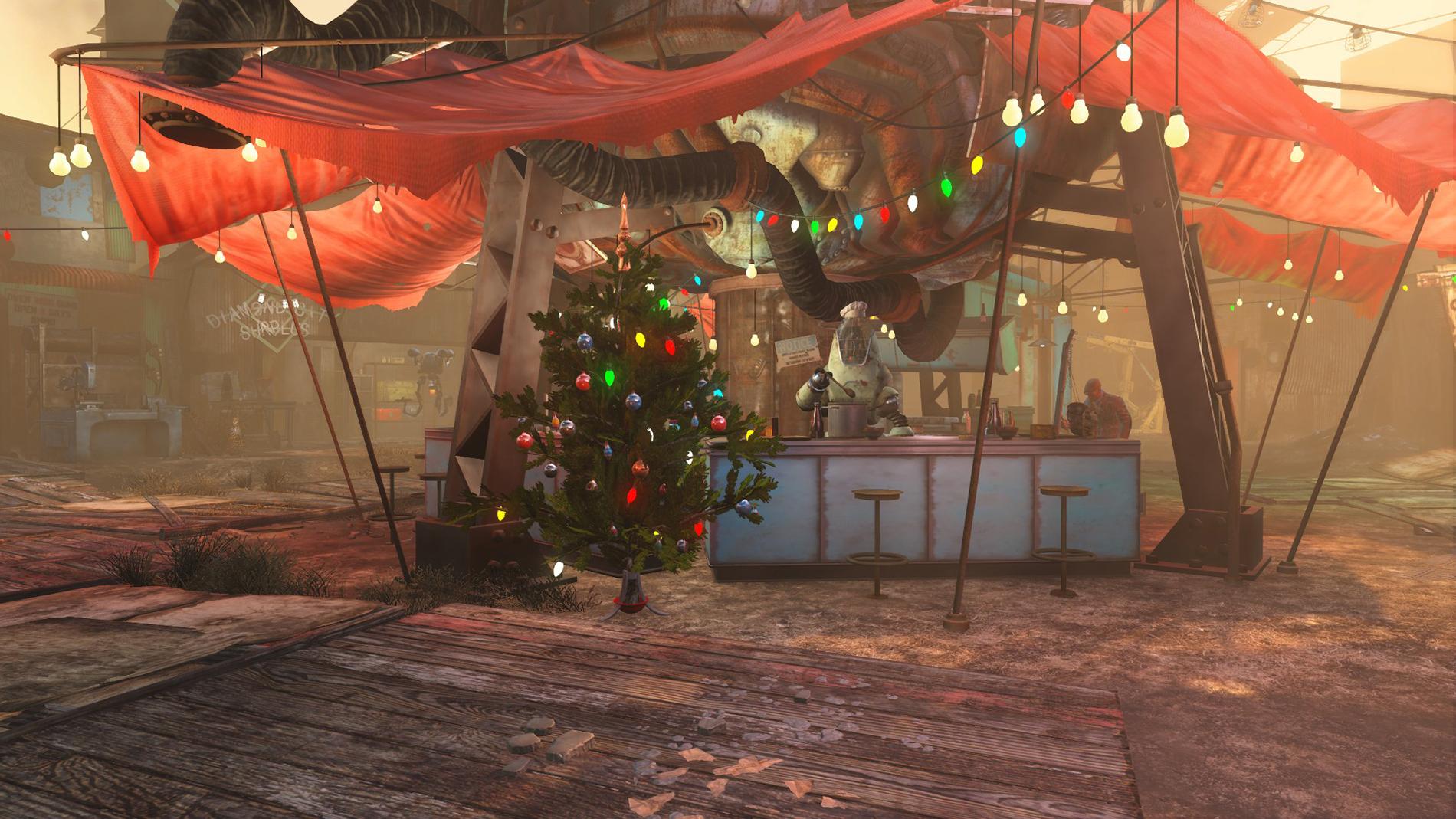 FO4 Christmas in Diamond City