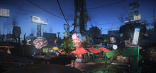 FO4 Diamond City Christmas
