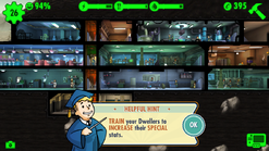 Fallout Shelter train your dwellers