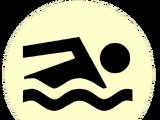 Значок головастиков: пловец