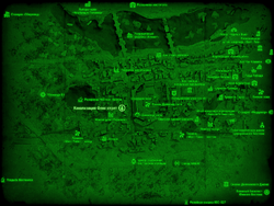 FO4 Канализация Фенс-стрит (карта мира)