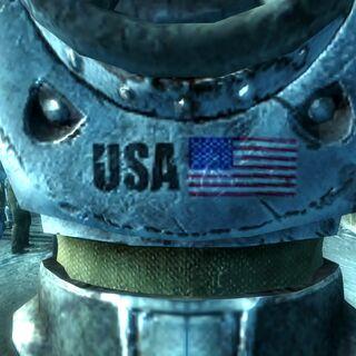 Американський прапор на броні в симуляції