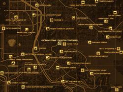 FNV Карта ЛАГЕРЬ ГОЛЬФ - ПАЛАТКА-СТОЛОВАЯ