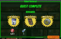 FoS Robot Retrieval rewards
