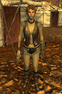 Great Khan armored leather female
