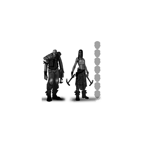 Male and female ghoul concept art.