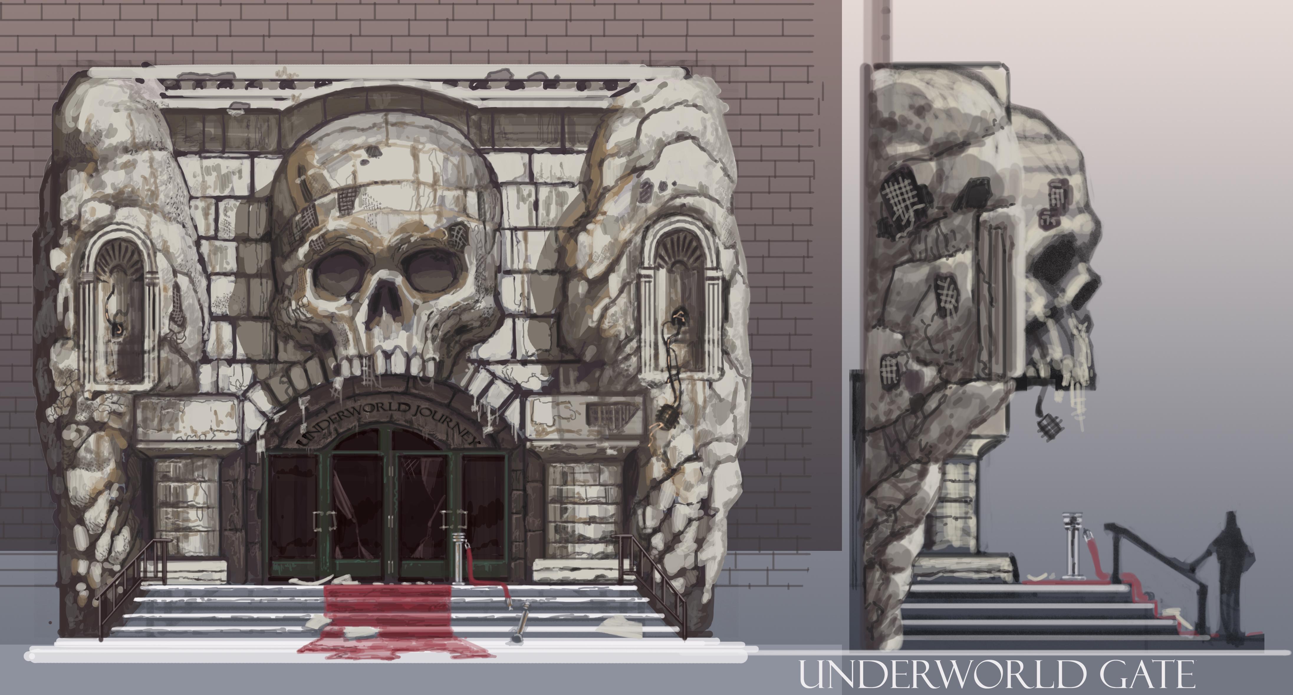 Eine Konzeptzeichnung des Eingangs