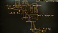Vault 22 oxygen recycling map