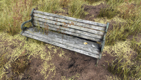 FO76 Summersville bench after