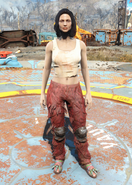 Fo4 Furry Pants and T-Shirt female