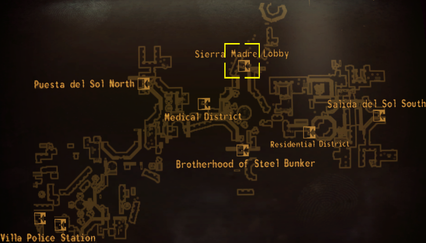 DM Sierra Madre hotel map.png
