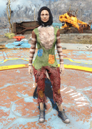 Fo4 Patchwork Sweater and Furry Pants female