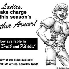 Leather armor ad from <i><a href=
