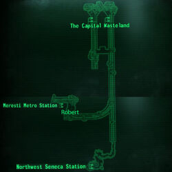 Meresti service tunnel map