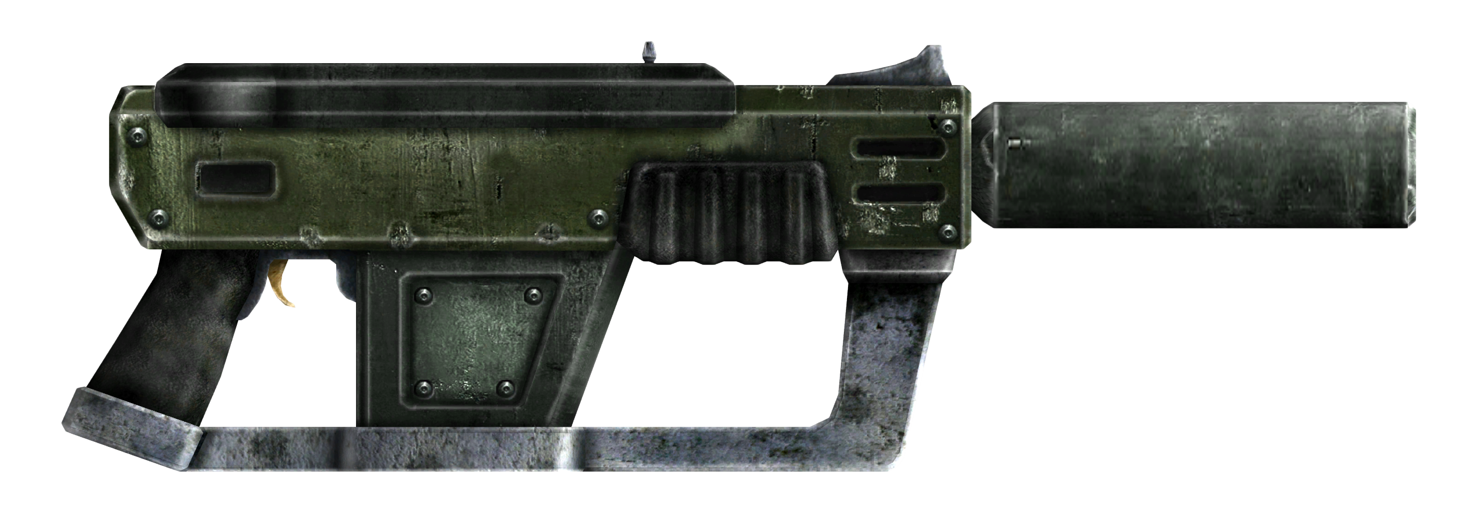 12.7mm SMG with silencer