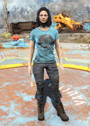 Blue Red Rocket t-shirt female