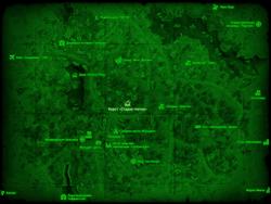 FO4 Карст «Старая глотка» (карта мира)