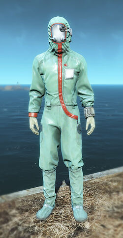 FO4 Hooded cleanroom suit male