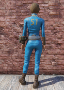 FO76 Vault 51 jumpsuit back