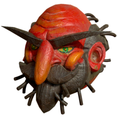 Faschnacht old man summer mask