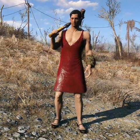 Червоне плаття на чоловічому персонажа