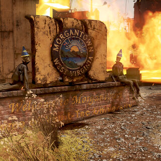 Morgantown welcome sign