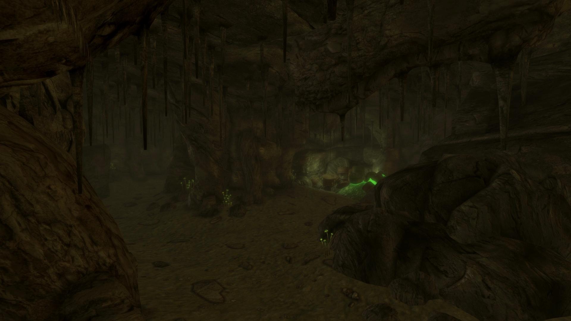 The Vault 34 entrance cave