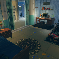 The player character's bedroom