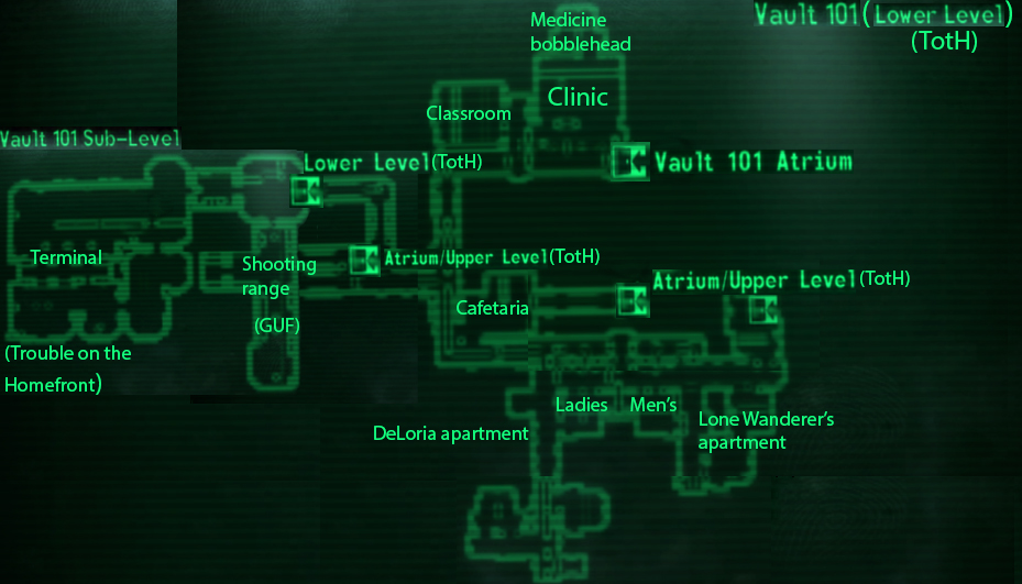 Image vault 101 lower level loc mapg fallout wiki vault 101 lower level loc mapg ccuart Images