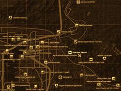 FNV Карта ХИЖИНА РАУЛЯ