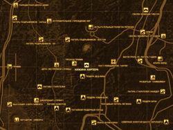 FNV Карта ХИЖИНА ХАРПЕРА