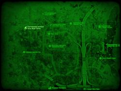 FO4 Спутниковая антенна базы Форт-Хаген (карта мира)