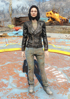FO4 Atom Cats jacket and jeans female