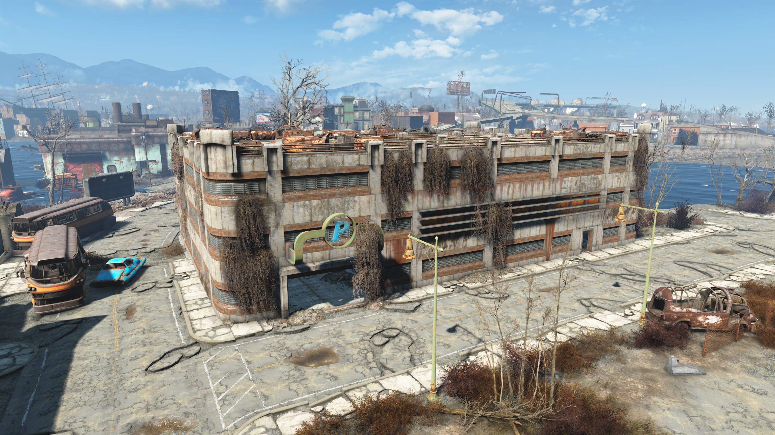 FO4 Boston Airport Departure Terminal Parking Lot
