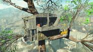 Casa del árbol de Chapita vista lateral