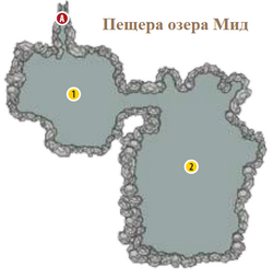 FNV Lake Mead cave interior map