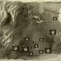Карта форпостів Братства і баз по всьому Середньому Заходу
