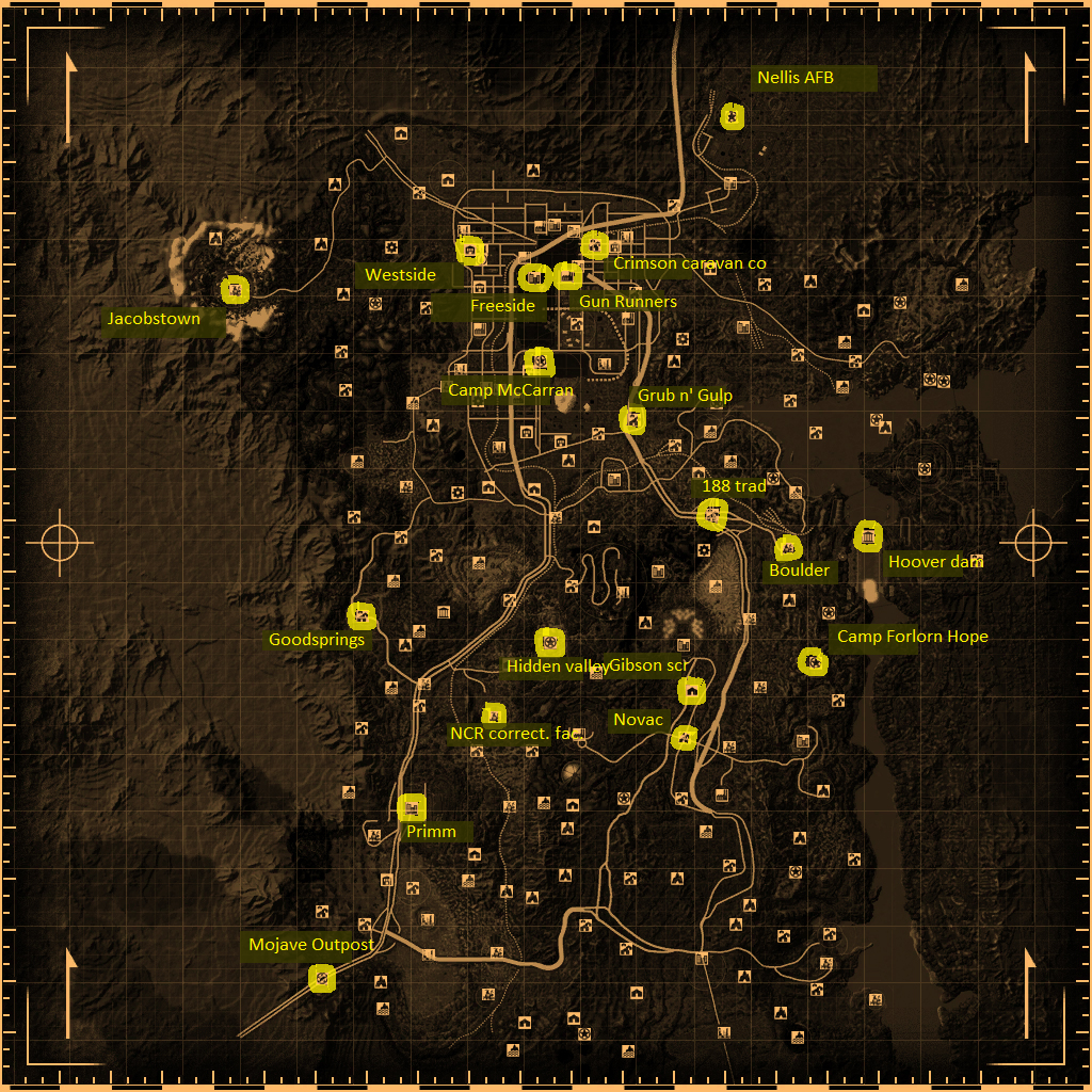Fallout Las Vegas Map.Fallout New Vegas Merchants Fallout Wiki Fandom Powered By Wikia