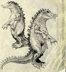 New art 3 mutant crocodile