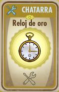 FOS Reloj de oro carta