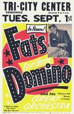 Fats Domino concert poster