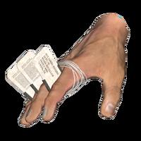 Dog tag fist