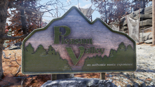 FO76 Pleasant Valley sign