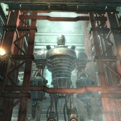 Liberty Prime inside the laboratory