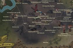 Abandoned mine shaft 6 map